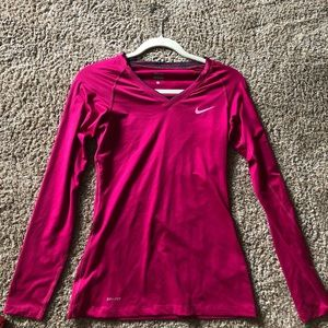 Nike Pink Long Sleeve Workout Top